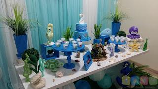 Decoração festa infantil Fundo do Mar Porto Alegre