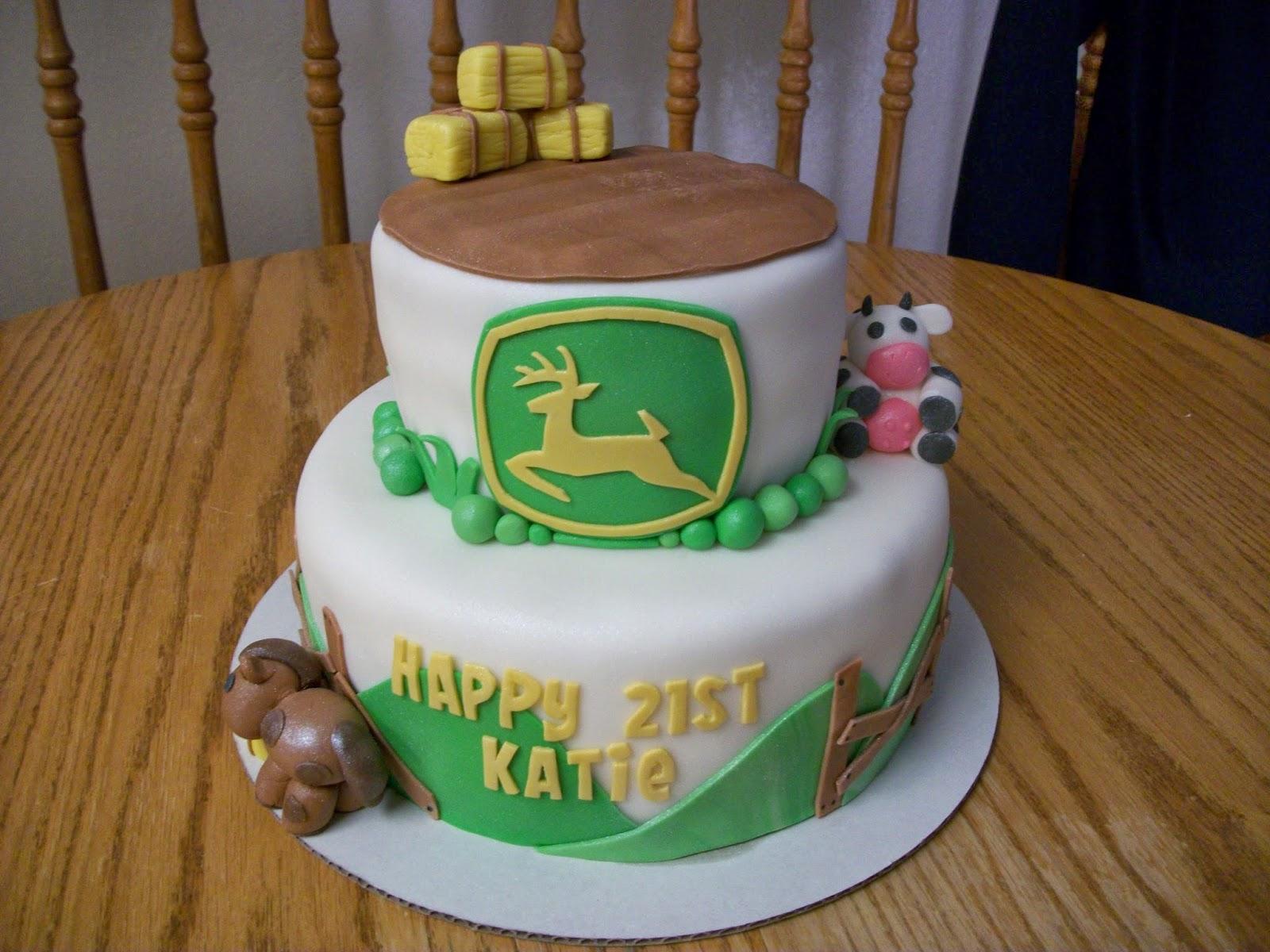 I Heart Cakes Farming John Deere Theme Cake