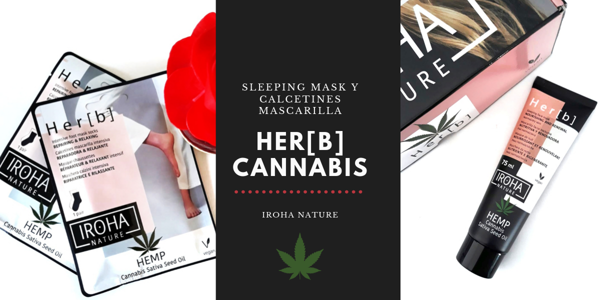 SLEEPING MASK Y CALCETINES MASCARILLA HER[B], CANNABIS, DE IROHA NATURE