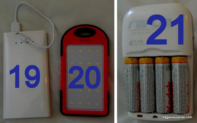 carregadores de bateria para viagem