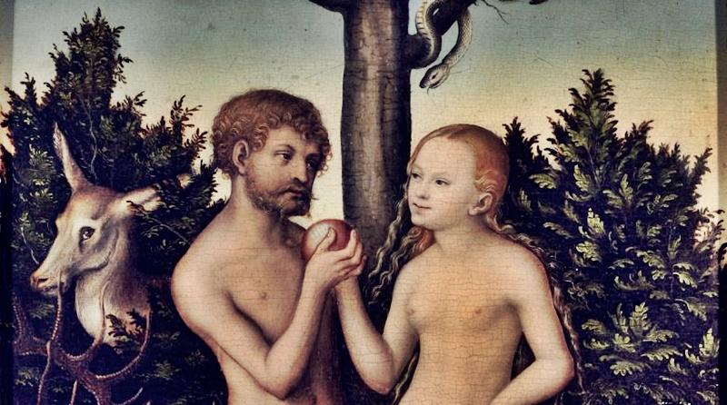 ilustração Adão e Eva