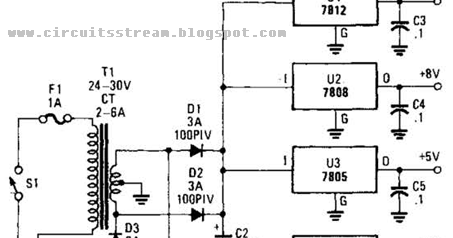 Simple Multivoltage Power Supply Wiring diagram Schematic