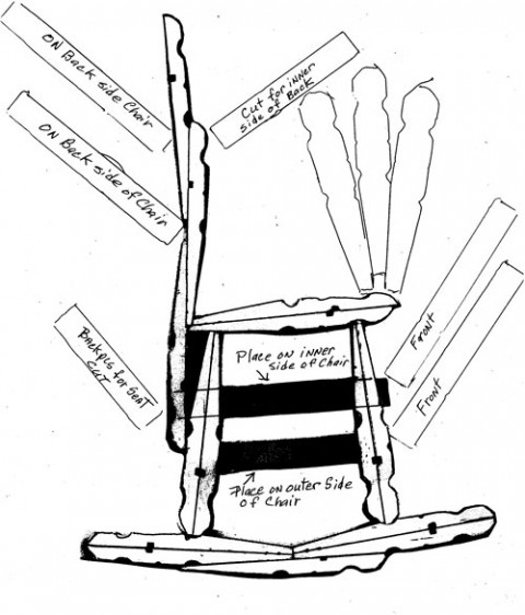 Quirky Artist Loft: DIY Barbie Deck Chair from Clothes-Pins