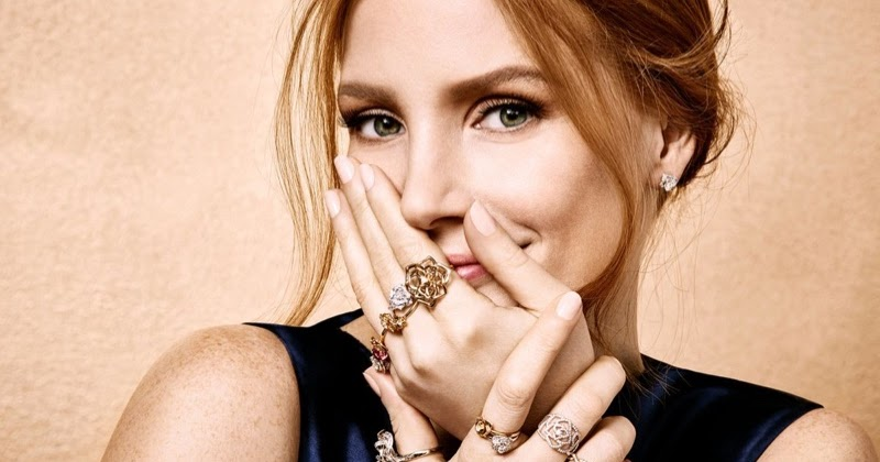 Smartologie Jessica Chastain For Piaget Jewelry 2016 Ad