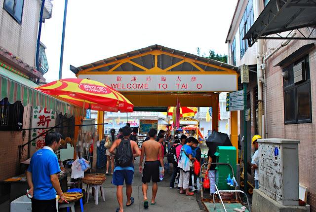 Cheska Lacson in Tai O, Lantau Island