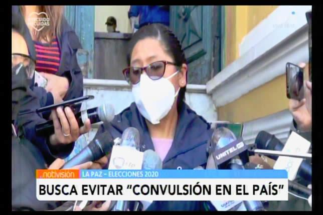 Eva Copa promulgará ley de elecciones para evitar convulsión en el país