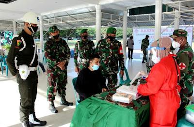 Kodim 0101/Aceh Besar Gelar Swab Antigen Acak di Blang Padang Banda Aceh
