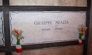 Meazza's tomb at the Monumental Cemetery in Milan
