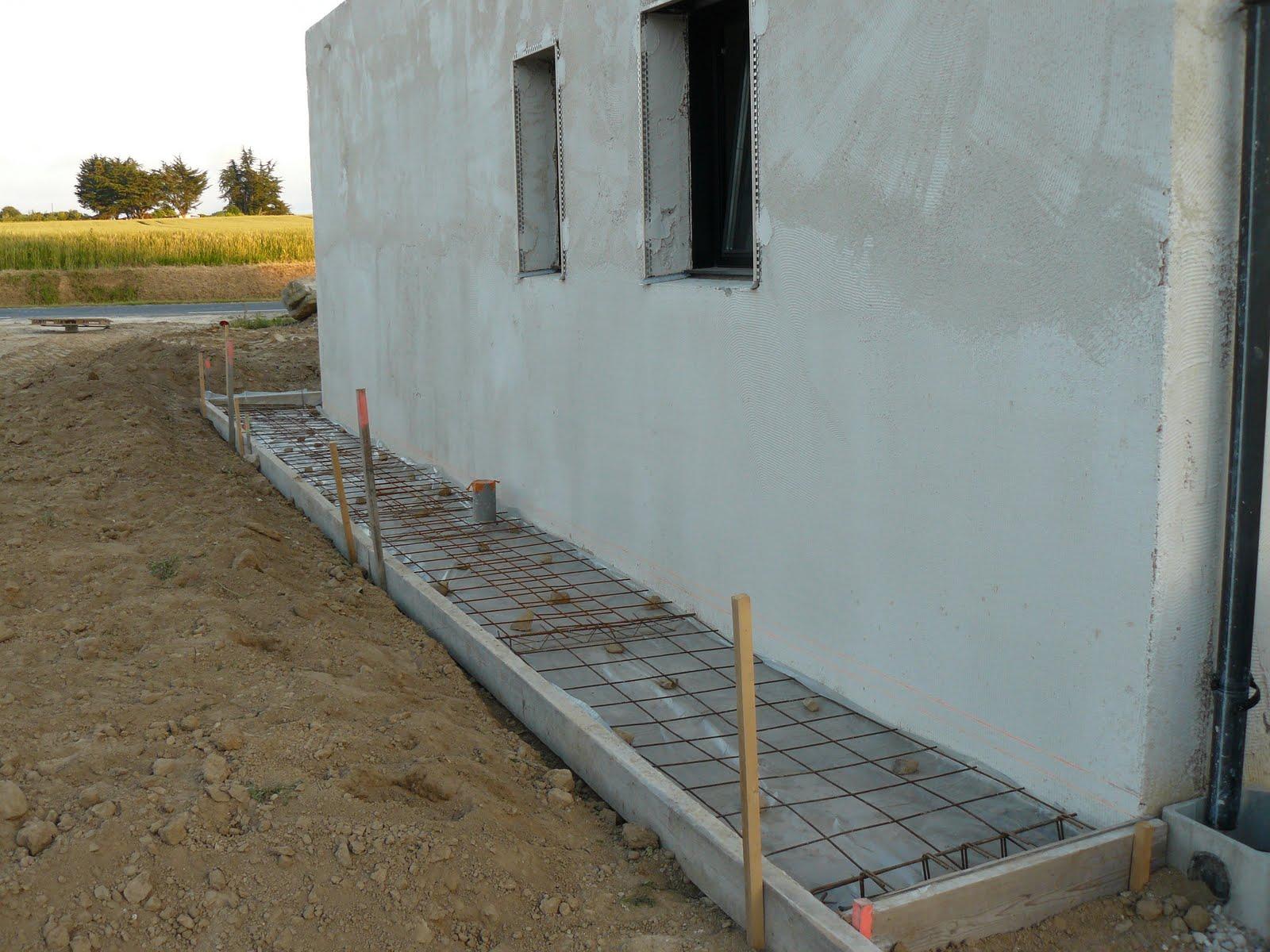 construction de notre maison ferraillage de la terrasse. Black Bedroom Furniture Sets. Home Design Ideas