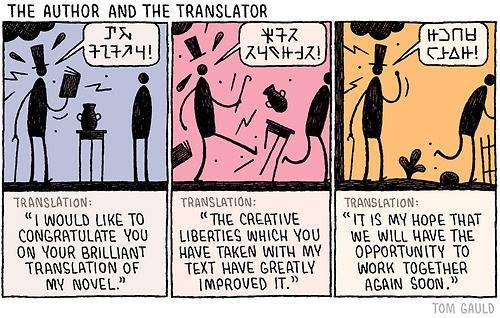 Meme de humor sobre las traducciones