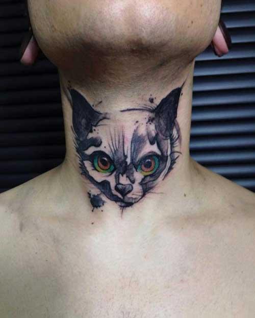 gırtlak dövmesi kedi