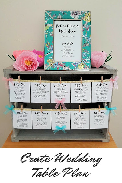 How to make your own vintage crate wedding table plan - cute and easy!