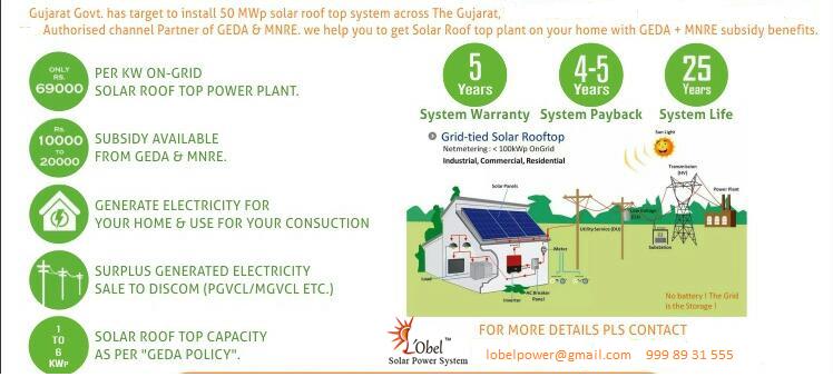 Lobel Solar Power System Solar Roof Top Domestic Subsidy