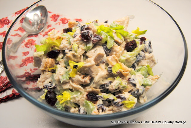 Retro Turkey Cranberry Salad at Miz Helen's Country Cottage