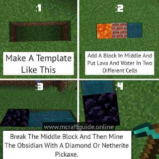 minecraft obsidian recipe