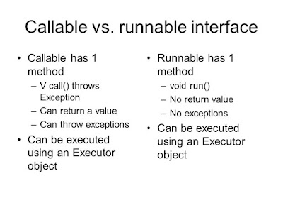 Callable vs Runnable in Java