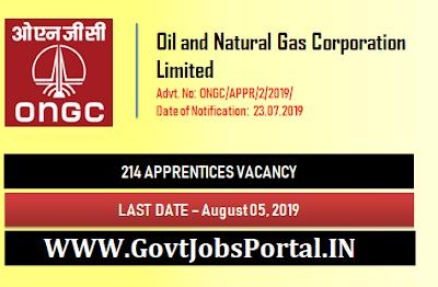 ONGC Apprentices Recruitment 2019