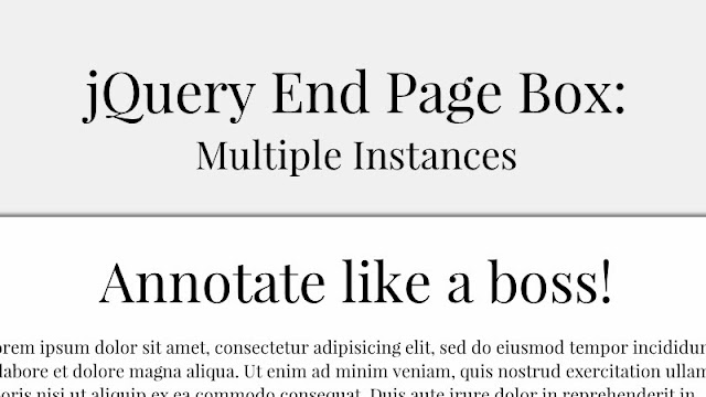jQuery End Page Box: Displaying a Box at the End of the Page