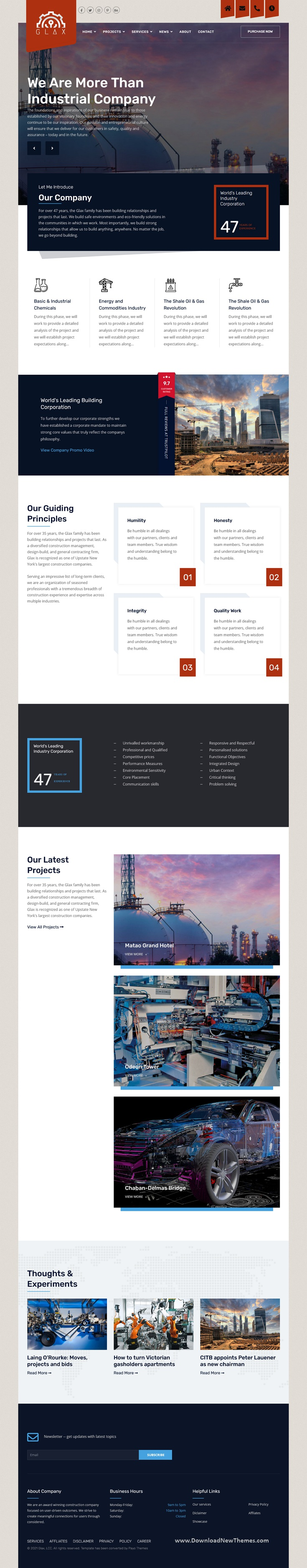 Glax Industry Joomla Template With Page Builder