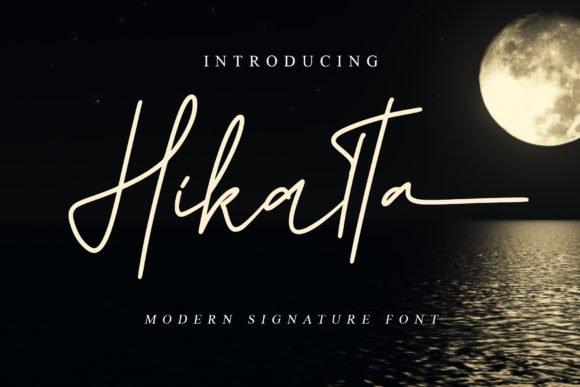 Hikatta Handwritten Font