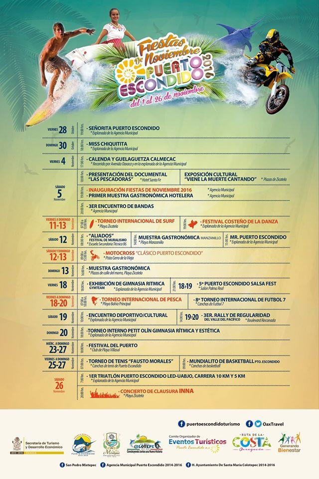 programa fiestas de noviembre 2016