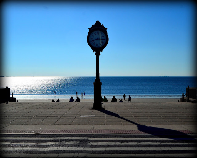 Revere Beach Clock, Revere, Massachusetts, shadows, summer
