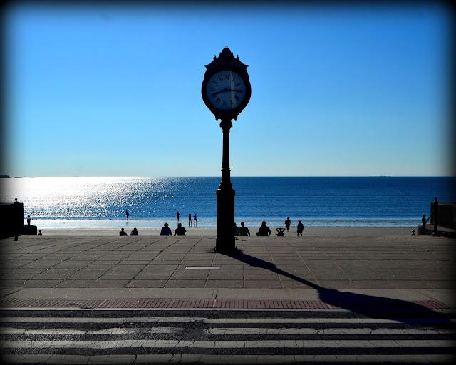 Revere Beach Clock, Revere, Massachusetts, shadows, summer
