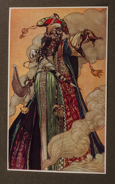 A Jinn from Arabian Nights by Rene Bull
