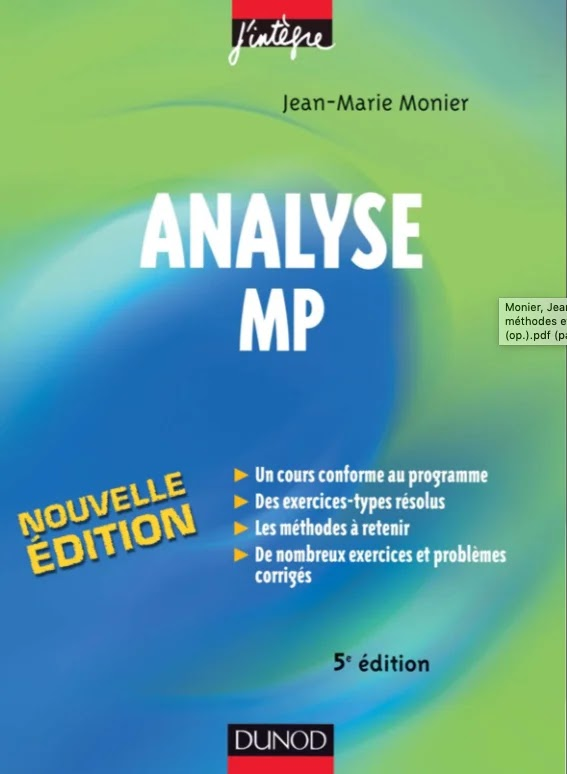 Livre d'analyse MP