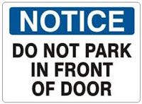 peringatan atau notice tentang larangan parkir