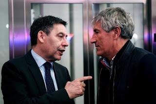 Bartomeu backs Setien: At no time have we thought about a change of coach