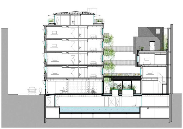 basement, contoh, aplikasi, hotel