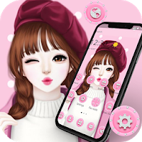 Pink Sweet Girl Love Theme Apk free Download for Android