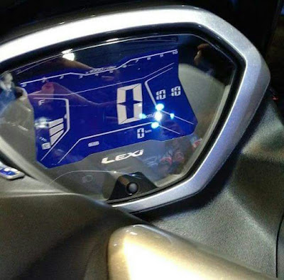 Speedometer full digital mirip dengan Aerox 155