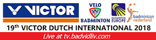 Victor Dutch International 2018 live streaming