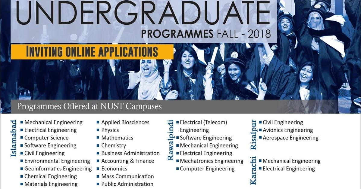 NUST Undergraduate Admissions Series 3 Fall 2018 - Computer Zila