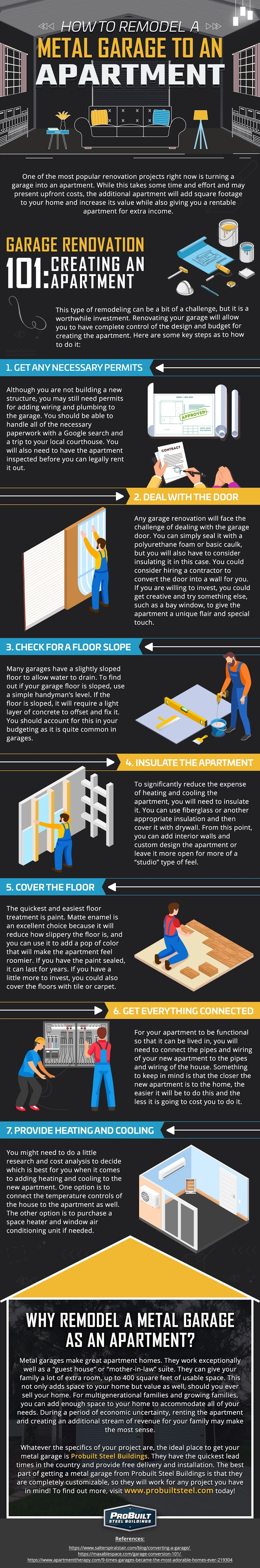 How to Remodel a Metal Garage to an Apartment? #infographic #Apartment #infographics #Metal Garage