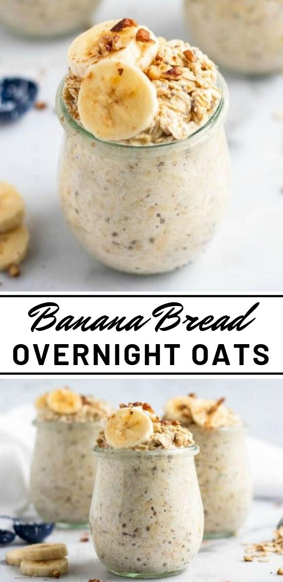 BANANA BREAD OVERNIGHT OATS #diet #banana #desserts #healthydiet #paleo