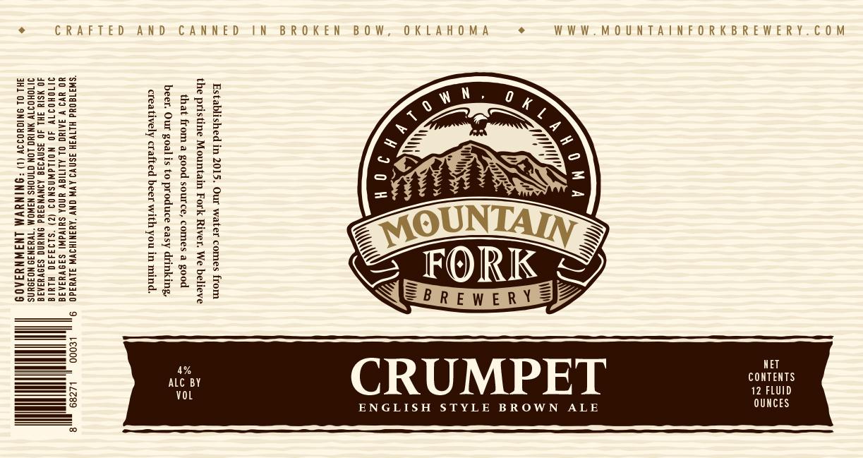 """NEW 3"""" Round Mountain Fork Brewery Sticker Craft Beer Hochatown OK"""