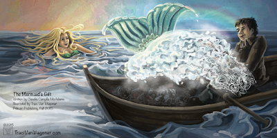 Final interior illustration for The Mermaid's Gift illustrated by Traci Van Wagoner