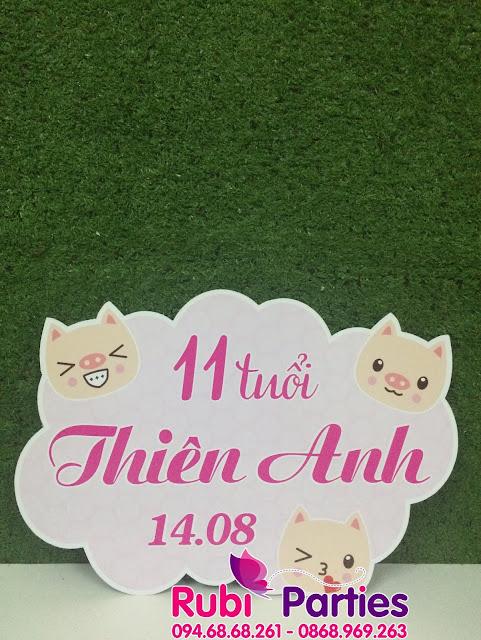 Cua hang thiet ke bang ten sinh nhat cho be o Thanh Xuan
