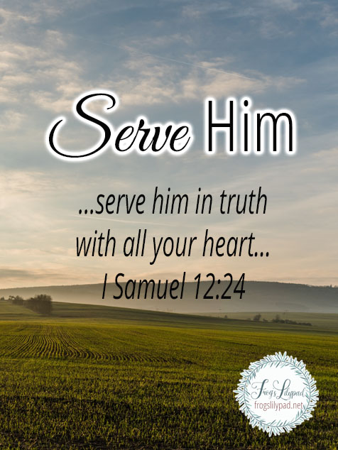 Serve Him- it's all we are required to do.
