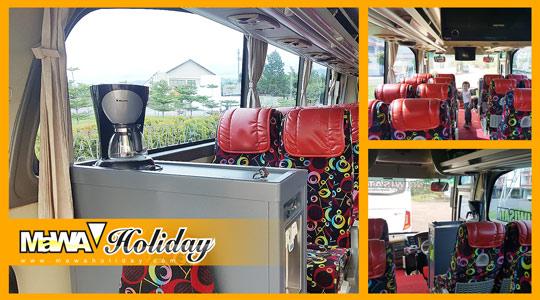 Detail Interior Bus Mawa Holiday Tampak Dalam