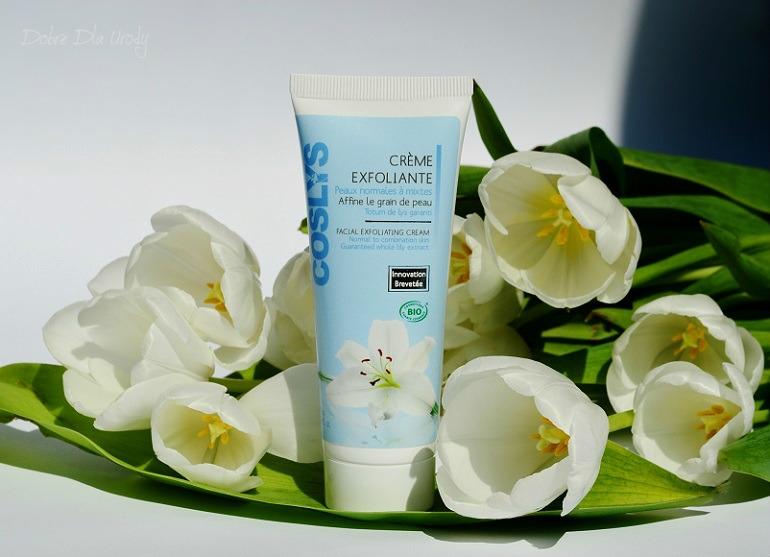 Coslys Creme Exfoliante Złuszczający krem do twarzy z ekstraktem z lilii i perełkami jojoba