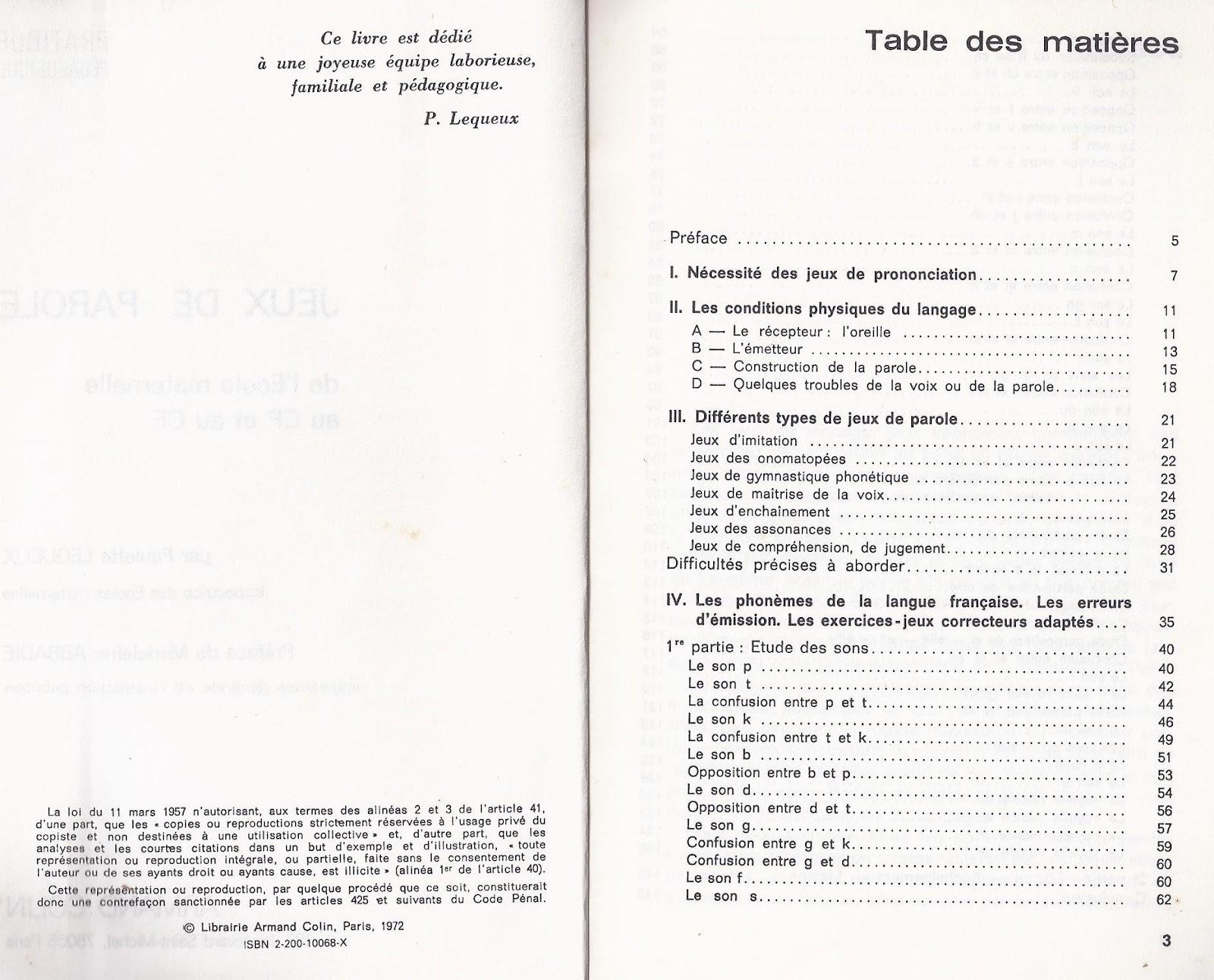 Super Manuels anciens: Paulette Lequeux, Jeux de parole, maternelle-CP  EC29