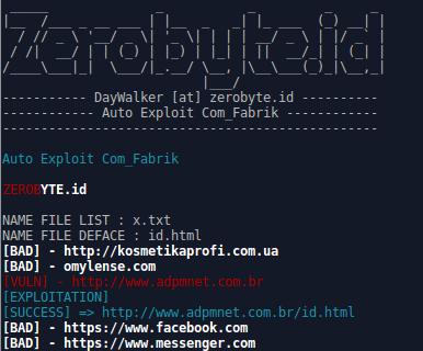 Auto Exploit Com_Fabrik
