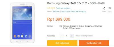 Harga Samsung Tab 3.7.0