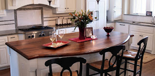 wood, kitchen island, dining area, bar stool