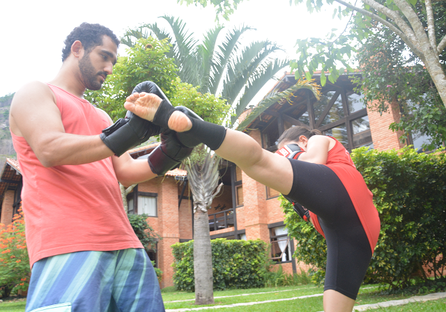 chute lateral kickboxing