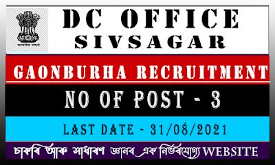 Sivasagar Assam Gaonburha Recruitment 2021